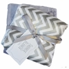 Slate Chevron Satin Burp Cloth