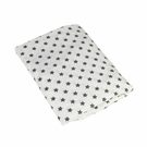 Slate Star Fitted Organic Crib Sheet