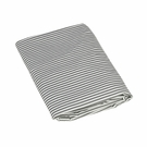 Slate Stripe Fitted Organic Crib Sheet