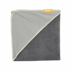 Slate Stripe Organic Hooded Towel