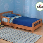 Slatted Toddler Bed in Honey
