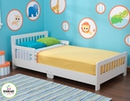 Slatted Toddler Bed in White
