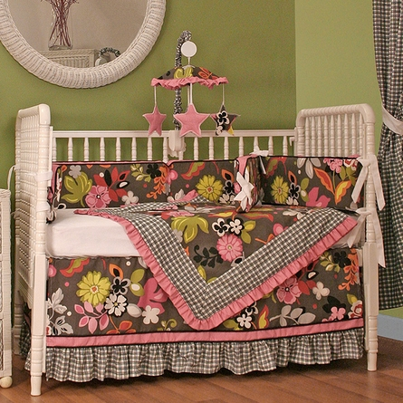 Sleek Slate Crib Bedding