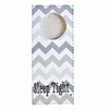 Sleep Tight Gray Chevron Doorknob Hanger