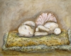 Sleepy Bunny Canvas Reproduction