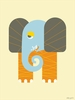 Sleepy Elephant Canvas Wall Art