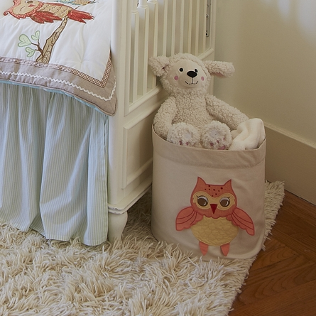 Small Baby Orange Owl Storage Bin