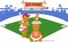 Small Baseball Bears Paint by Number Wall Mural