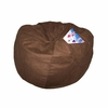 Small Beanbag in Brown Microsuede