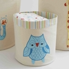Small Blue Owl Storage Bin