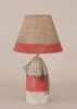 Small Buoy Lamp with Net in Cottage and Classic Red Accent