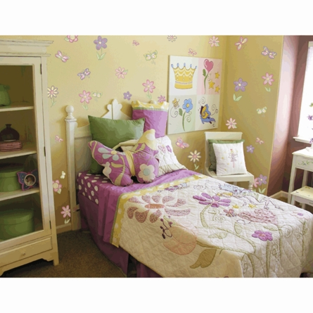Small Butterfly & Flower Wall Stickers