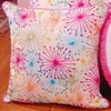 Small Colorful Starbursts Throw Pillow