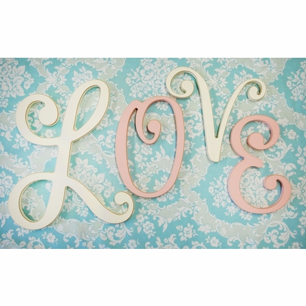 Small Cursive Wooden Hanging Letters