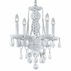 Small Envogue White Crystal Chandelier