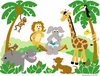 Small Jungle Story Paint by Number Wall Mural