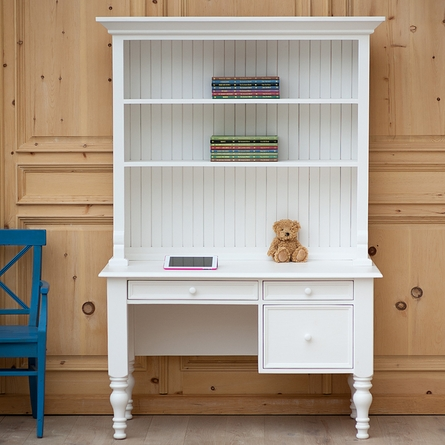 Small Library Desk with Hutch