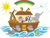Small Noah's Ark Paint by Number Wall Mural