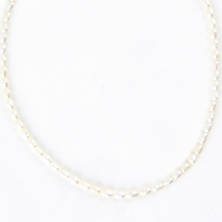 Small Rice Pearl Necklace