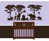 Small Silhouette Safari Paint by Number Wall Mural