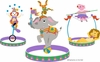 Small Three Ring Circus Paint by Number Wall Mural