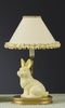 Small yellow Lace and Dot Bunny Lamp