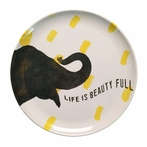 Smart Elephant Melamine Plate - Set of 4