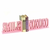 Smile XOXO Letter Bookends