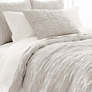 Smocked Dove Grey Duvet Cover