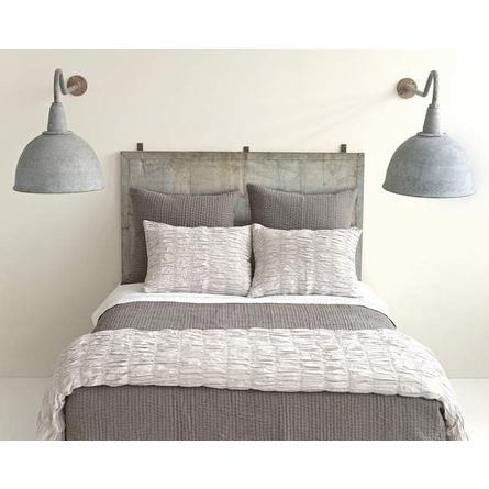 Smocked Dove Grey Standard Sham