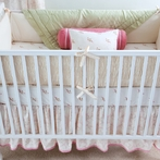 Smocked Organic Oyster Crib Bedding Set