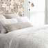 Smocked White Duvet Cover