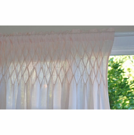 Smocked Window Curtain