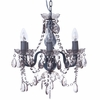 Smoke Gray Gypsy Mini Chandelier