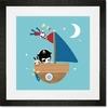 Smooth Sailing Framed Art Print