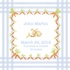 Snuggle Bunny Canvas Birth Announcement in Bebe Blue
