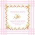 Snuggle Bunny Canvas Birth Announcement in Bebe Pink