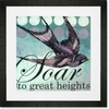 Soar to Great Heights Framed Art Print