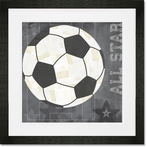 Soccer All Star - Gray Framed Art Print