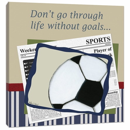 Soccer in the News Canvas Reproduction