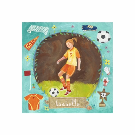 Soccer Star - Girl Canvas Wall Art