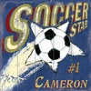 Soccer Star Vintage Wood Sign