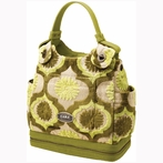 Society Satchel Diaper Bag - Key Lime Cream Cake