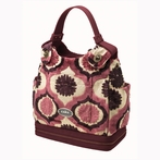 Society Satchel Diaper Bag - Plum Tart Cake