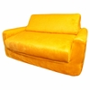 Sofa Sleeper in Canary Yellow Microsuede