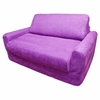 Sofa Sleeper in Purple Microsuede