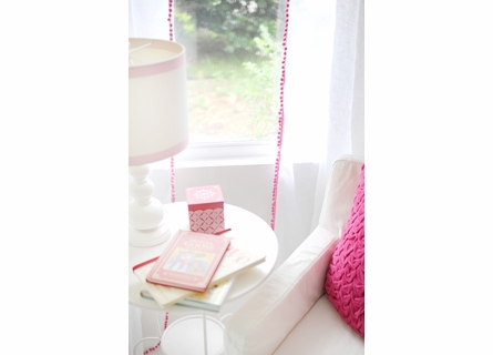 Soft Whisper Linen Curtain Panels with Pom Pom Trim - Set of 2