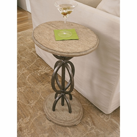 Sol Playa Martini Table in Sandy Linen