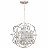 Solaris Four Light Golden Shadow Crystal Silver Mini Chandelier