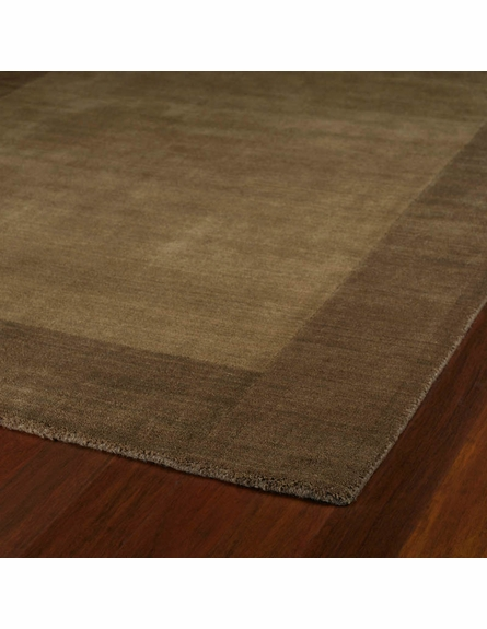 Solid Border Rug in Chocolate